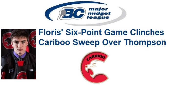 BCMML: Floris' Six-Point Game Clinches Cariboo Sweep Over Thompson